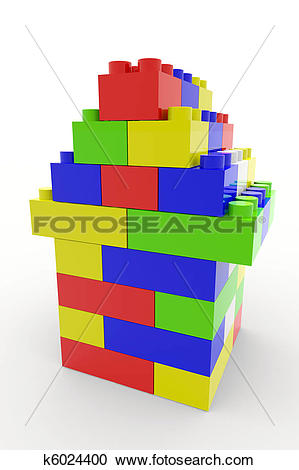 Stock Illustrations of Color block house k6024400.