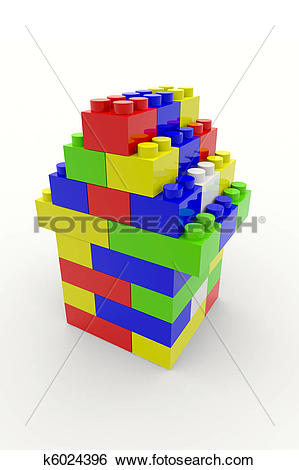 Stock Illustration of Color block house k6024396.