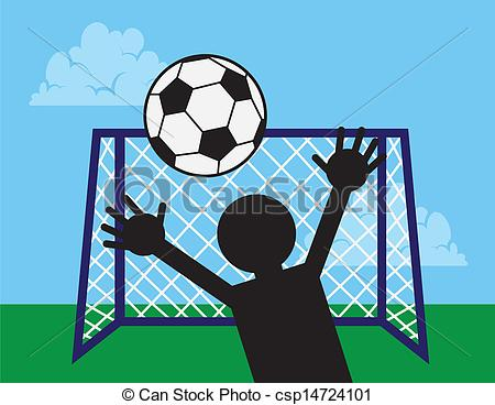 Vector Clipart of Soccer Net Block.