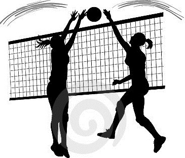 Volleyball block clipart.