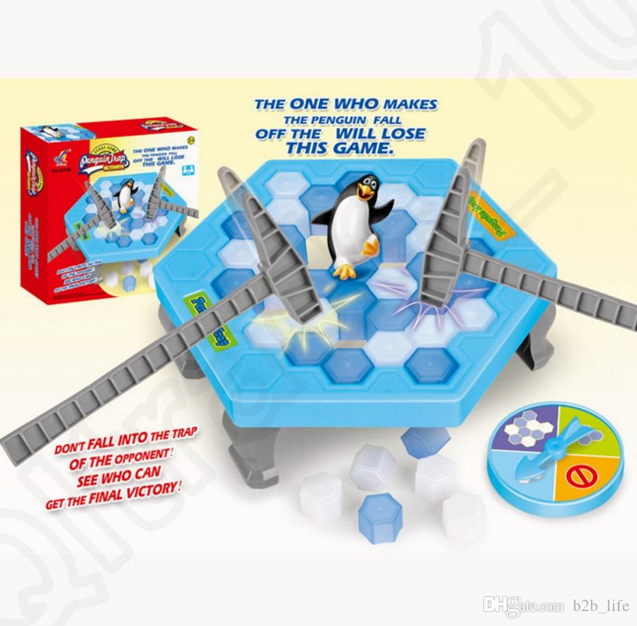 Ice Breaking Table Game Penguin Trap Save The Bee Activity.