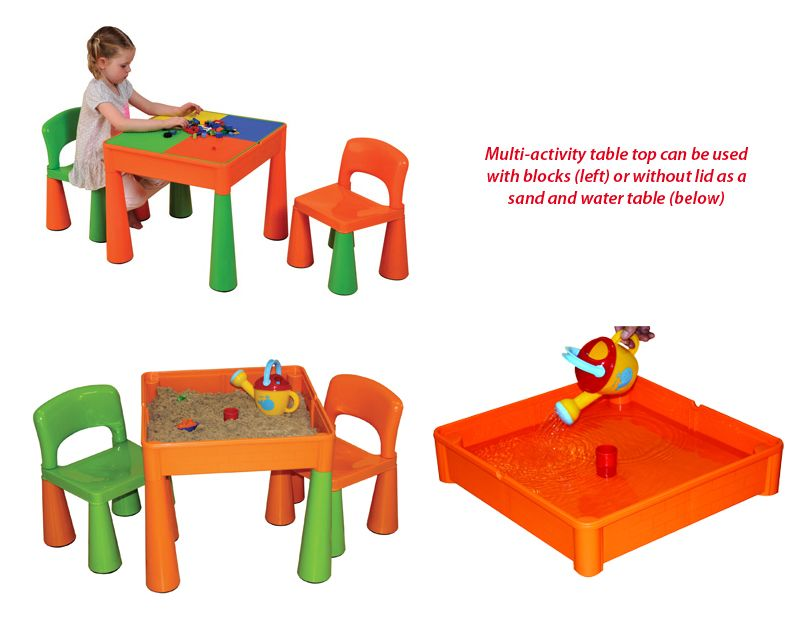 Years Multi Activity Tables and Chairs Set Green and Orange,Early.