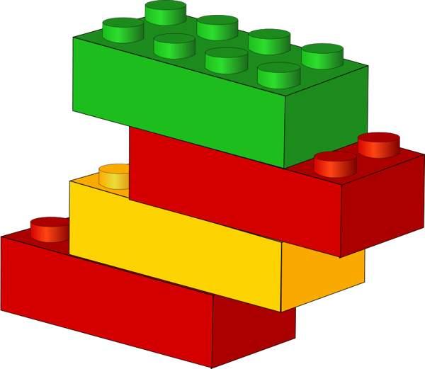 Lego blocks clip art.