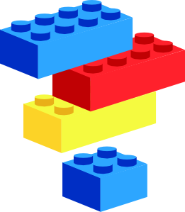 Kids Playing Blocks Clipart.