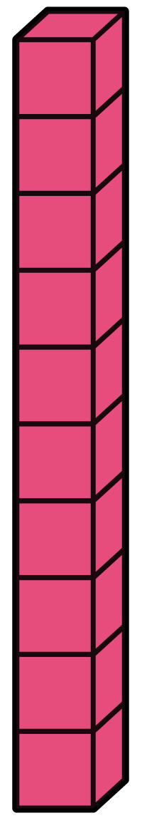 Flat Tens Block Clipart.