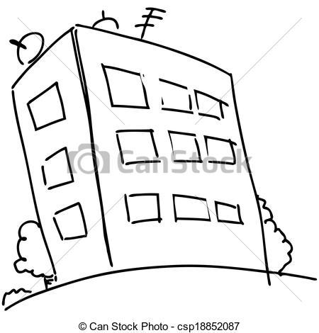 Vector of Cartoon block of flats.