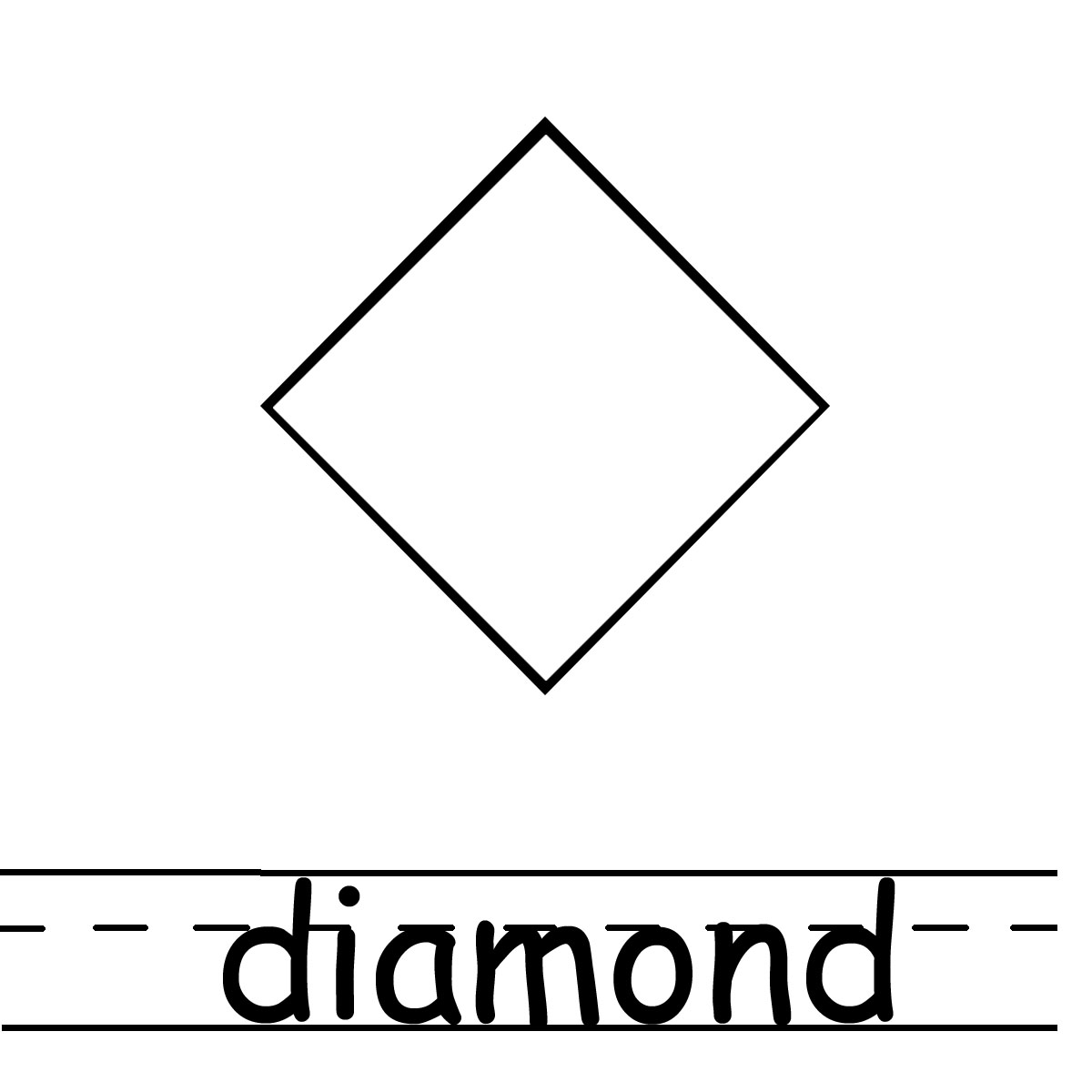 Black diamond shape clip art.