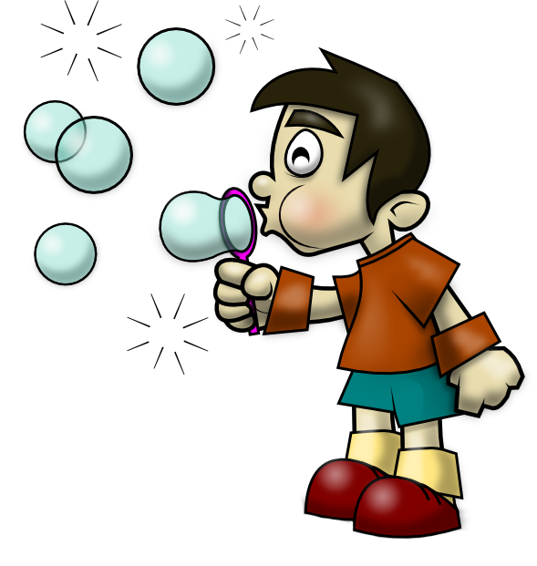 Blowing Bubbles Clipart.