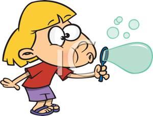 Blowing Bubbles Clipart.