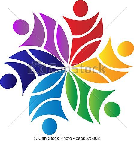 Vector Illustraie van logo, bloem, Teamwork.