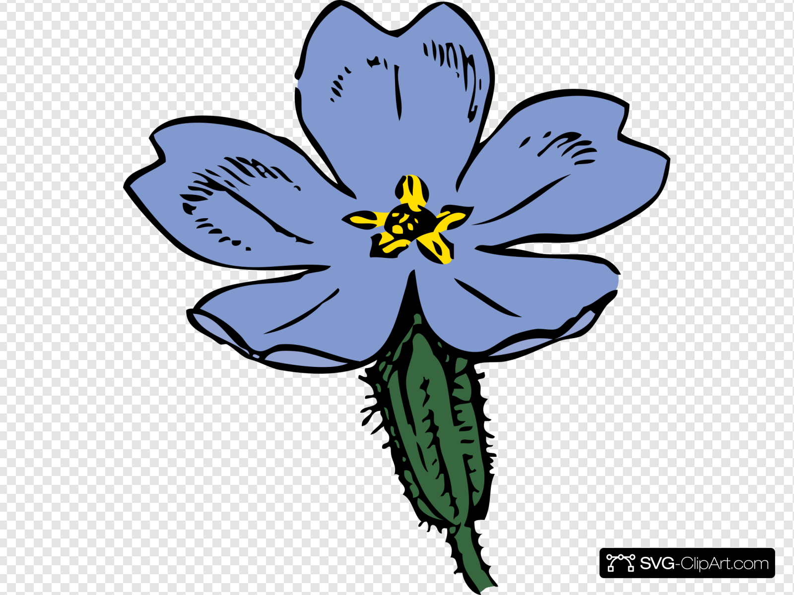 Primrose Bloom Clip art, Icon and SVG.
