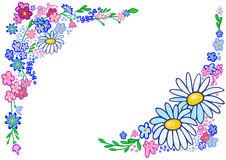 Blommor ram clipart.