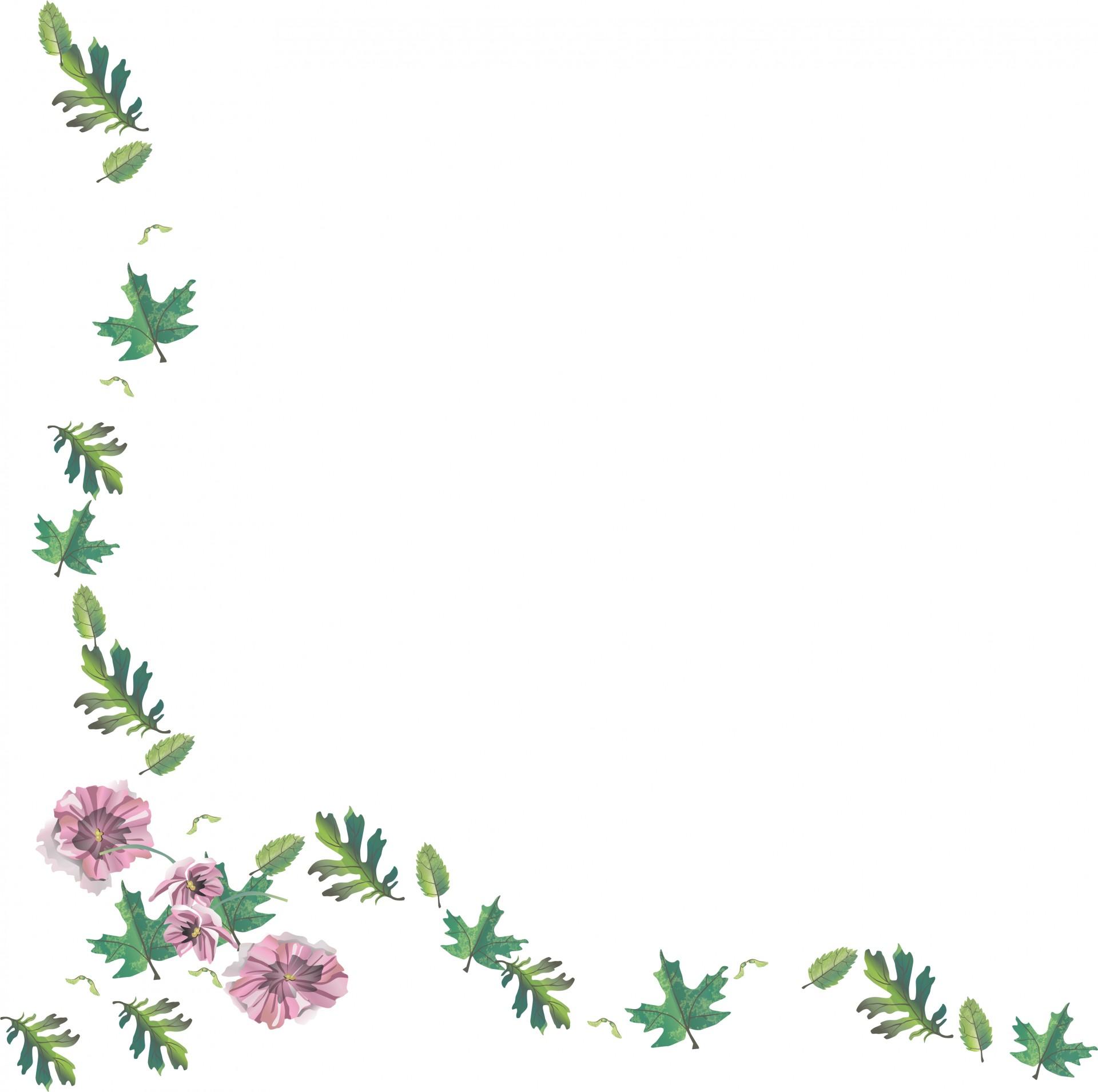 blommor ram clipart gratis