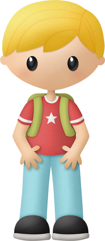Blond Boy With Backpack Clip Art.