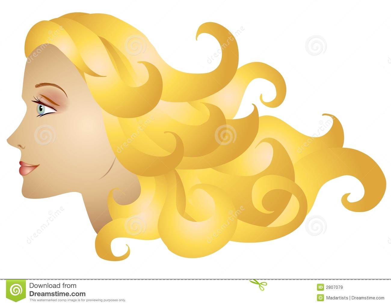 Long blonde hair clipart.