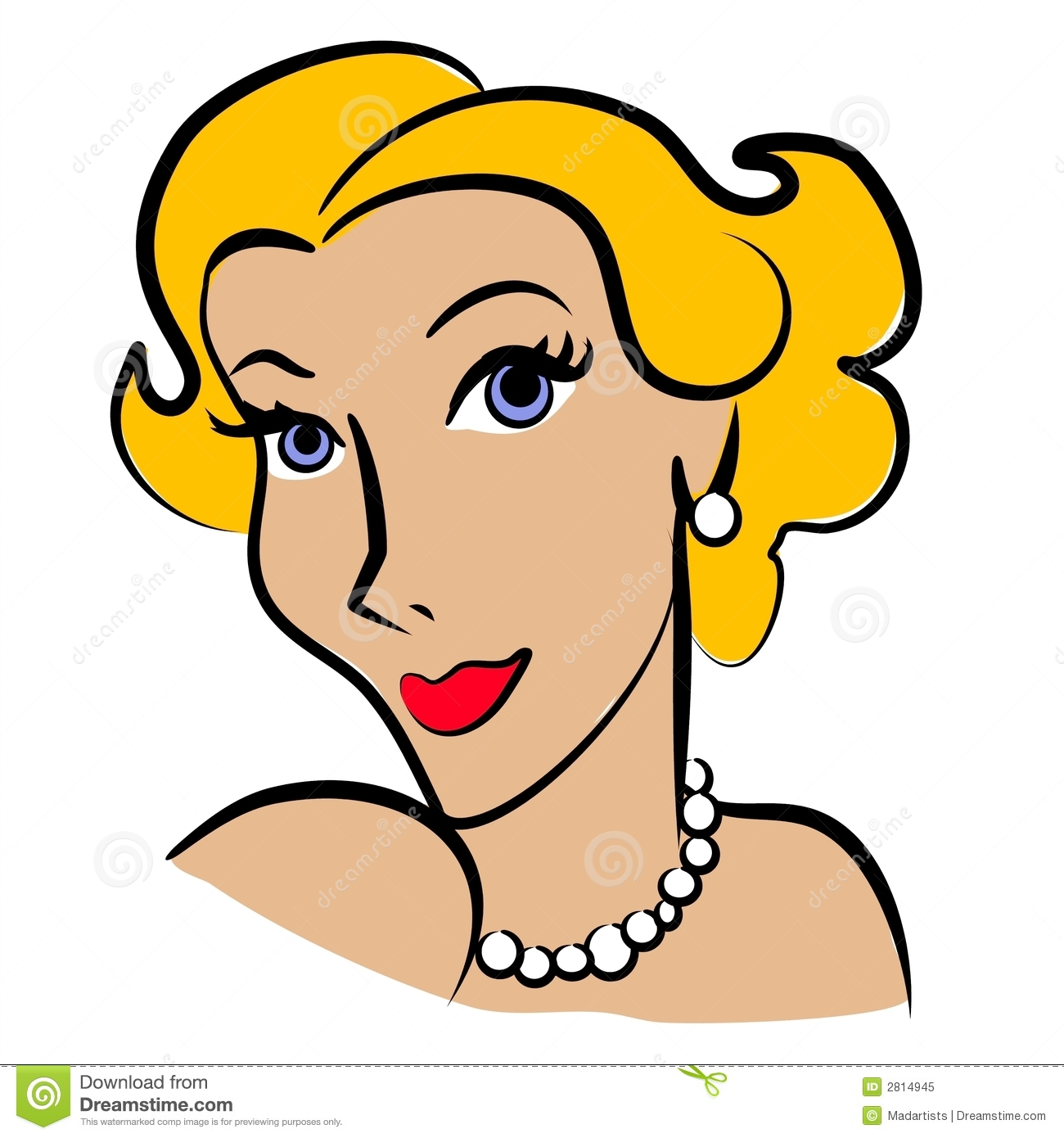 Blonde Lady Clipart.