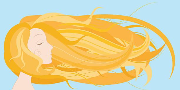 Best Blonde Hair Blowing Illustrations, Royalty.