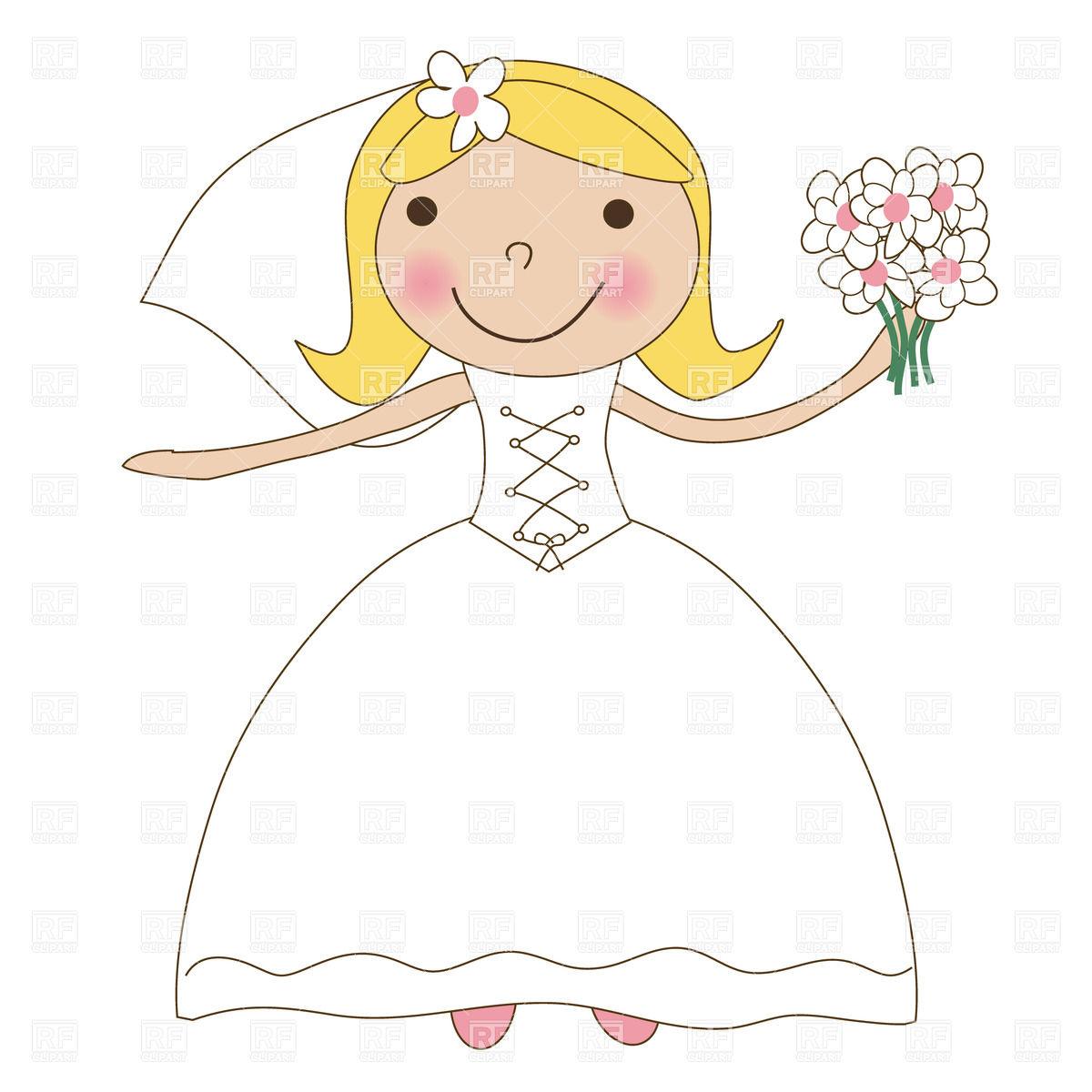 Cute Bride Clipart.