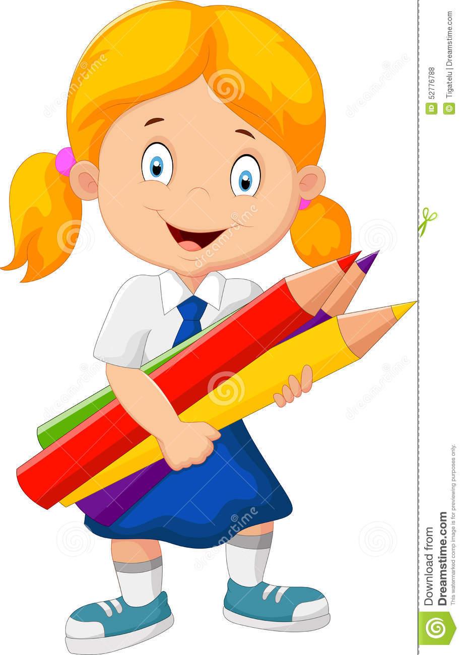 Blonde Cartoon Girl School Clipart School.