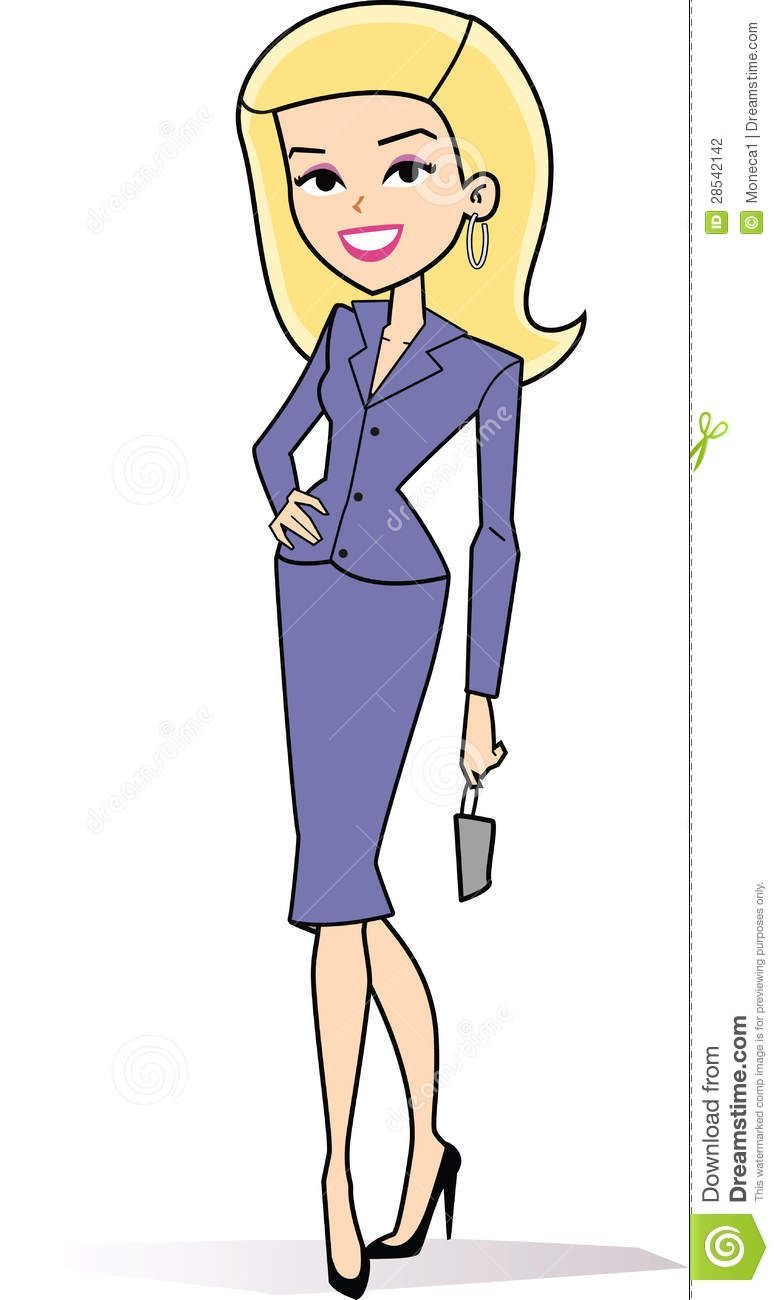 female blonde business clipart.