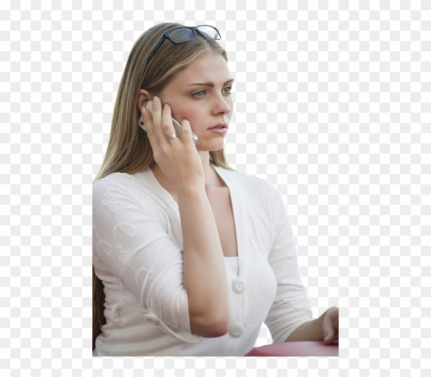 Blonde Girl On The Phone, HD Png Download.