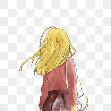 Blonde Girl PNG Images.