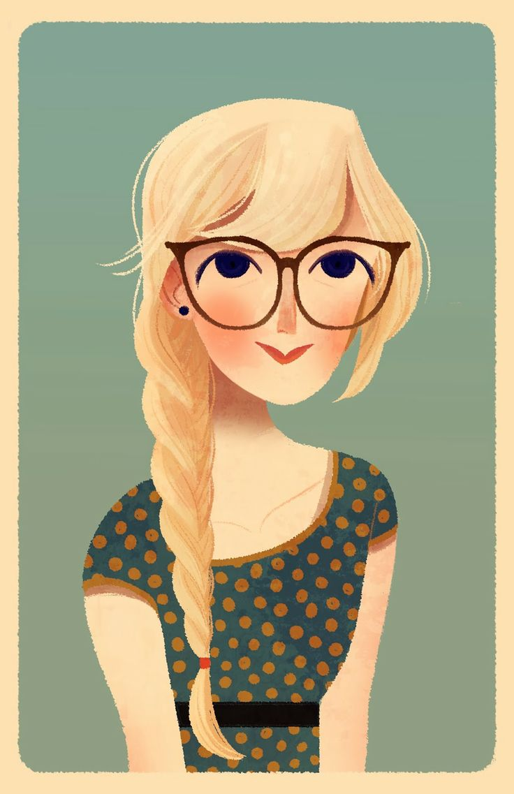 Cartoon Girls With Glasses Group with 77+ items.