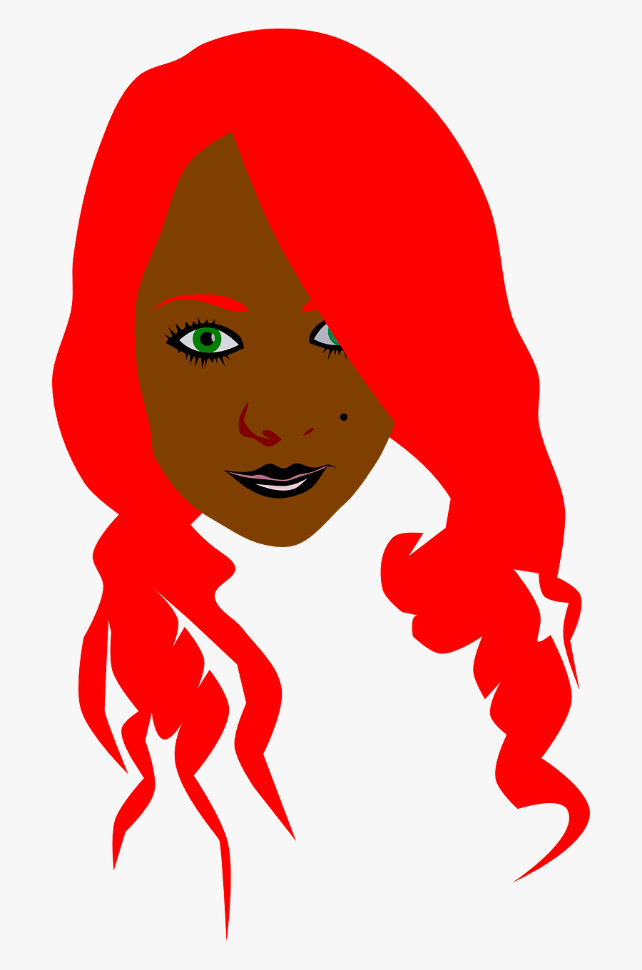 Cartoon Girl With Blonde Hair And Blue Eyes Clipart.