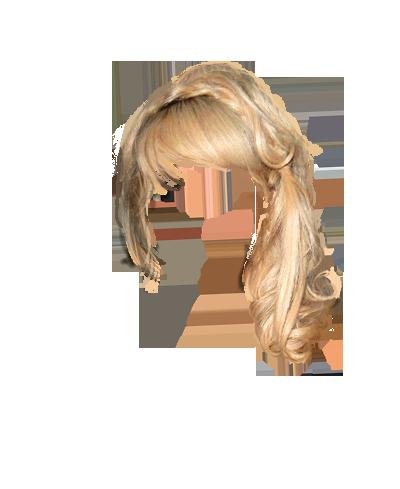 Blonde Wig Clipart.