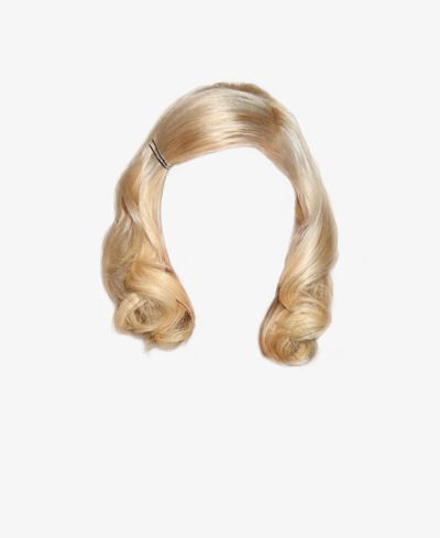 western style short blonde hair clips to pull the free graphics in.