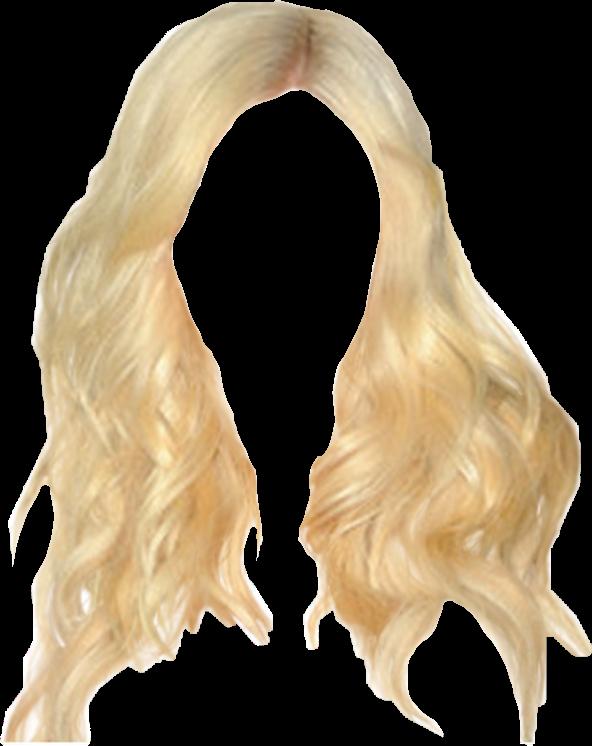 blonde hair png freetoedit.