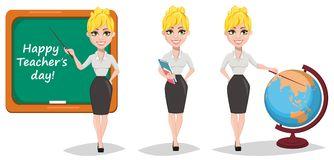 Blonde Teacher Stock Illustrations.