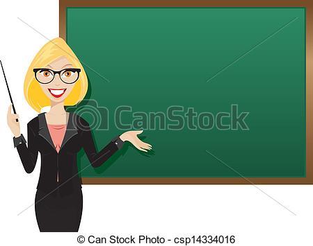 Blond teacher.