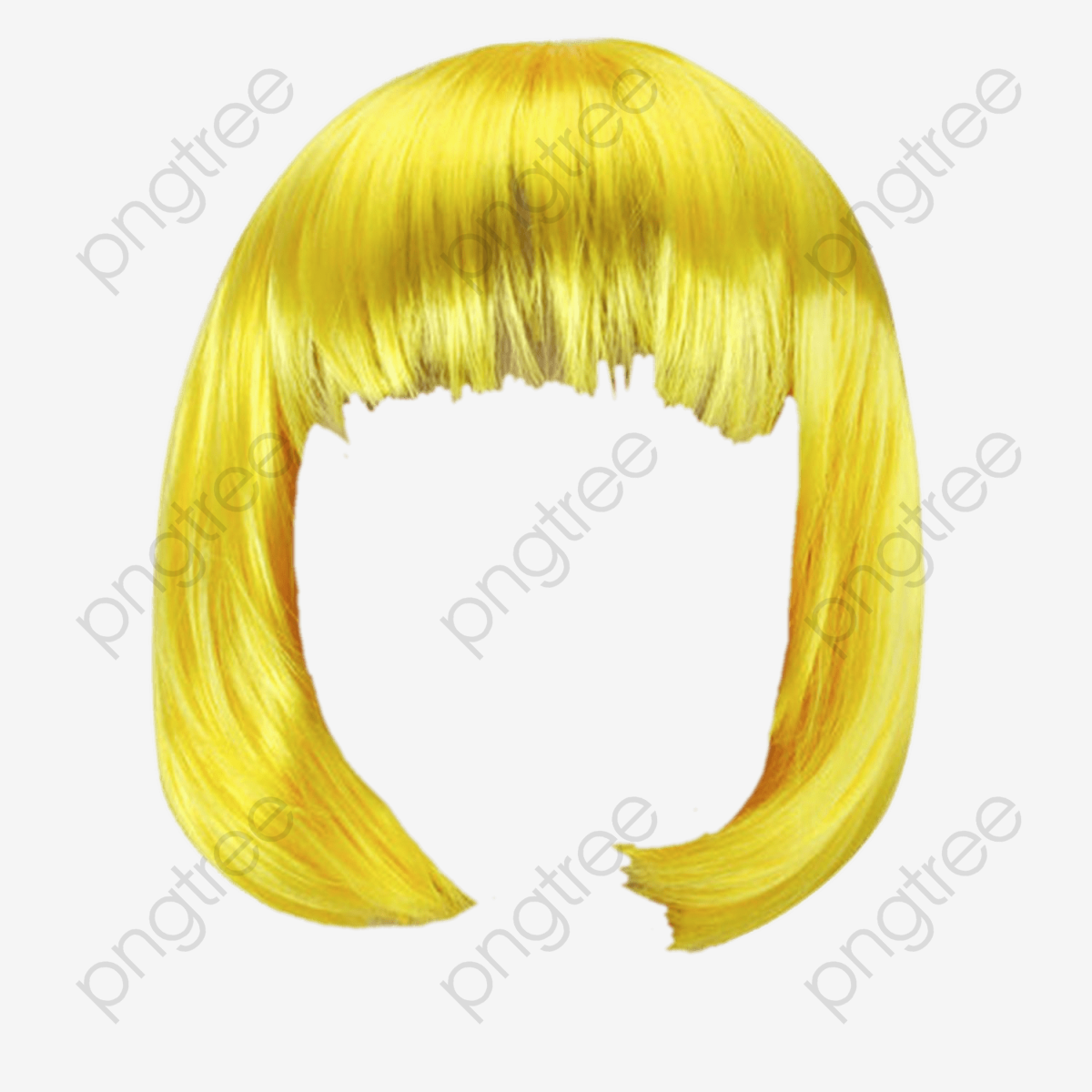 Blonde Wig, Golden, Short Hair, Wig PNG Transparent Image and.