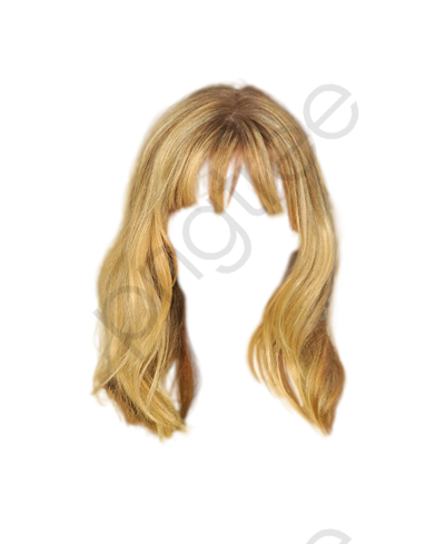 Blonde Hair Wig To Pull The Material Free, Golden, Hairstyle, Wig.
