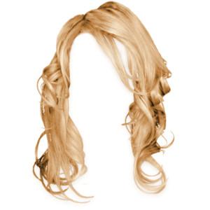 Blonde hair wig clipart.