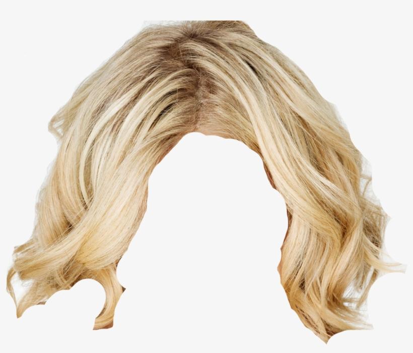 Blonde Wig Png PNG Image.