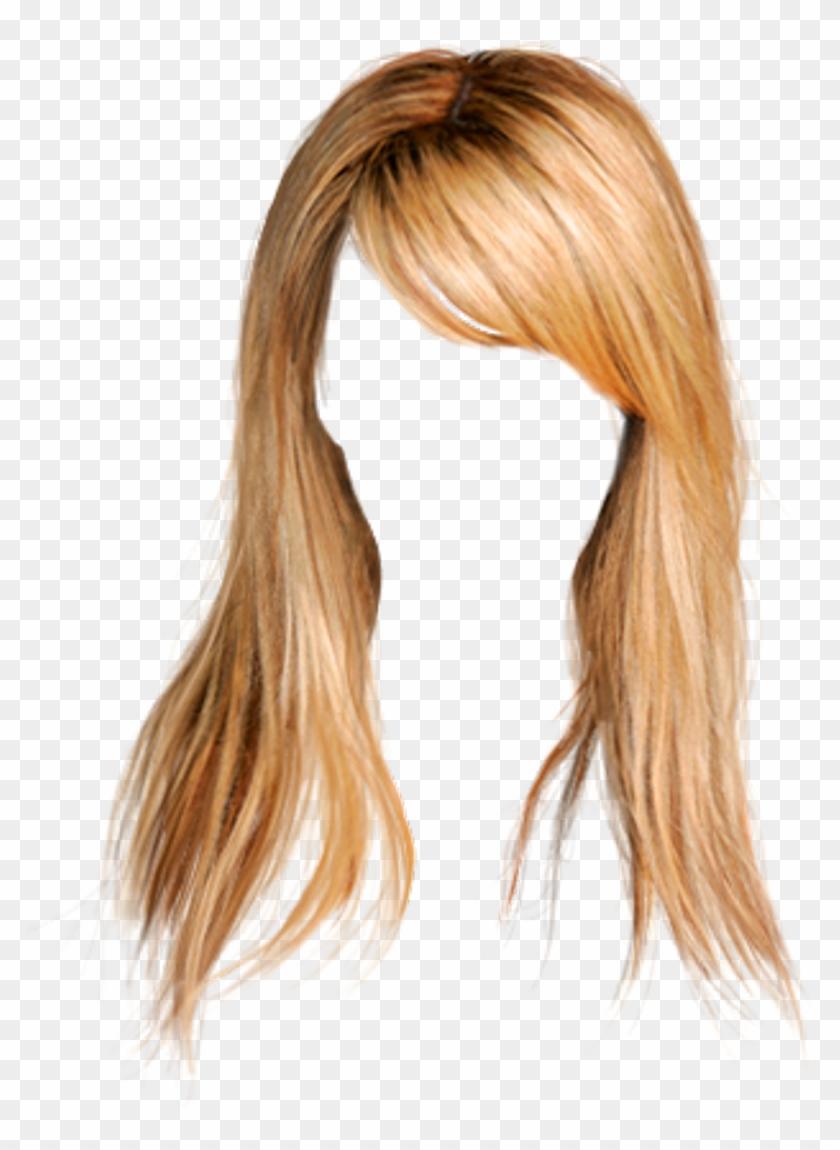 hair #wig #blonde #longhair #bangs.