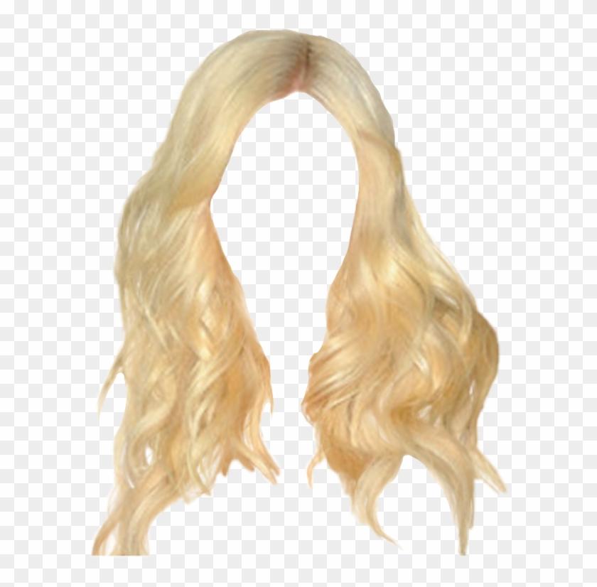 Blonde Wig Png, Transparent Png.