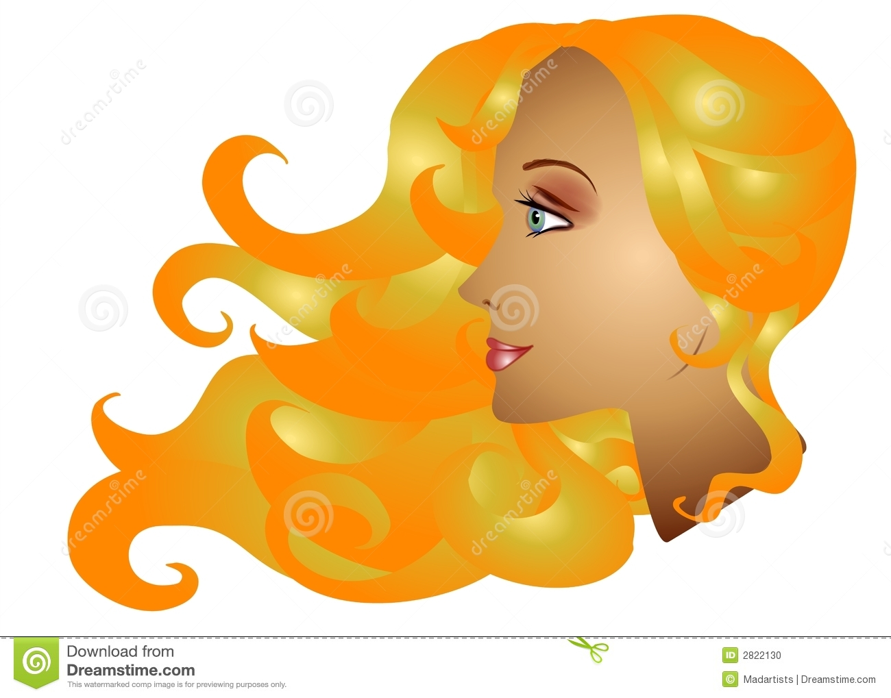 Blondes Stock Illustrations.