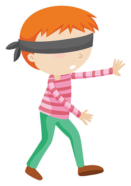 Blindfolded Person Clipart.