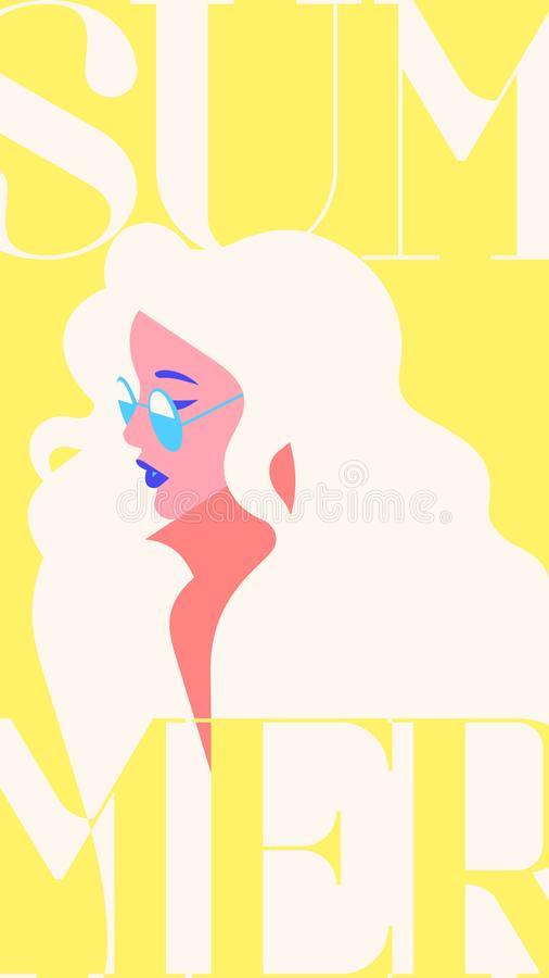 Blondie Girl Stock Illustrations.