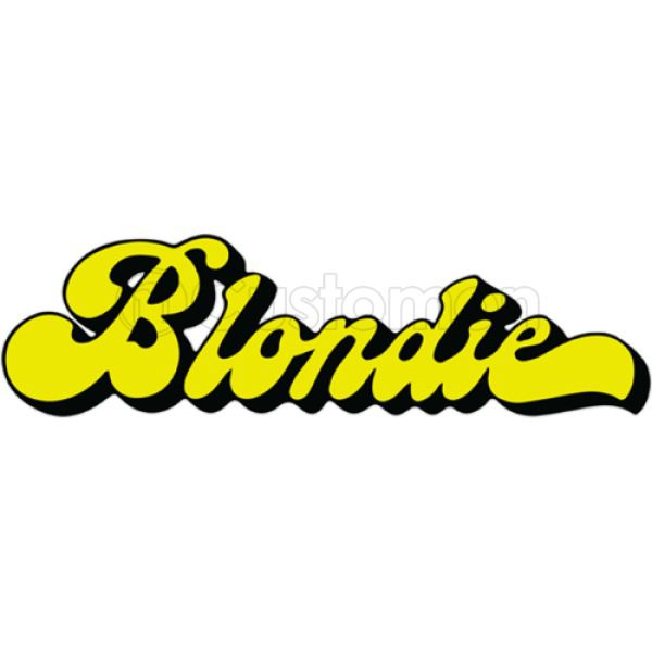 Blondie Band Logo Women\'s Racerback Tank Top.