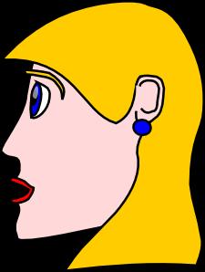 Head Lady Woman Blond Clip Art at Clker.com.