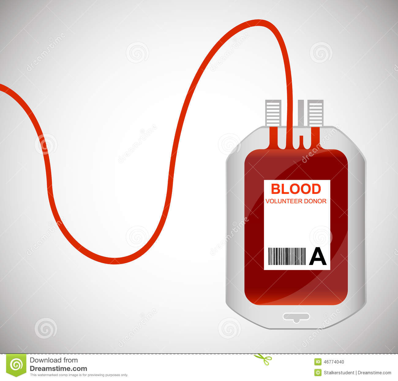 Sketch Of Blood Bag For Transfusion Stock Vector.