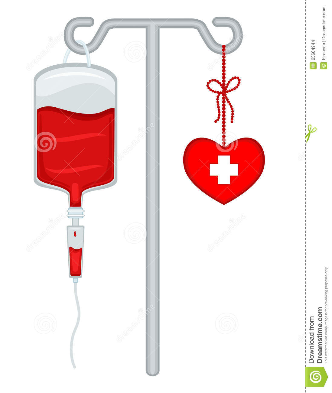 Blood donation bag clipart.