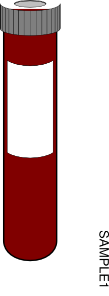 Blood tube clipart.