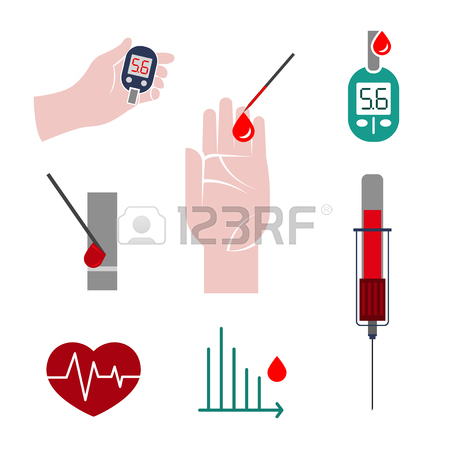 Beautiful Vector Blood Testing Set. Blood Count Flat Icons.