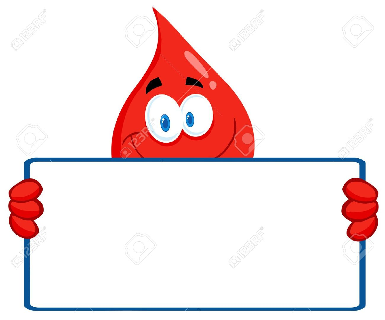 Blood Guy Holding A Blank Sign Royalty Free Cliparts, Vectors, And.