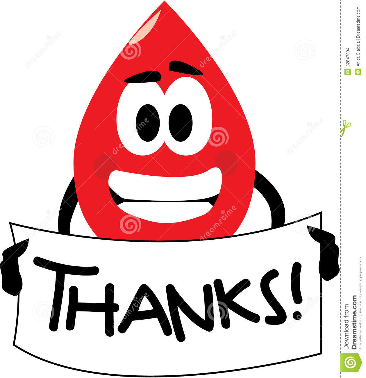 Blood Donation Apreciation Clipart.